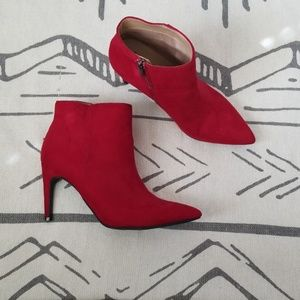 A New Day Red Suede Boots